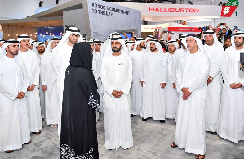 محمد بن راشد يزور أديبك 2019 ويؤكد أن الإمارات بلد الفرص الاستثمارية والوظيفية والعلاقات الإنسانية