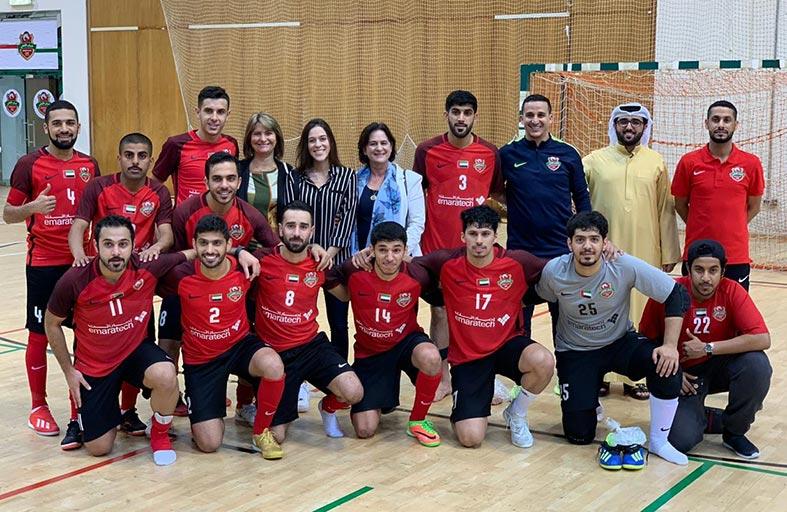 شباب الأهلي يواصل التألق ويتأهل إلى نهائي كأس الإمارات لكرة الصالات