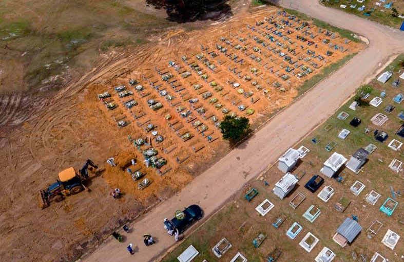 توسيع أكبر مقبرة برازيلية مع انتشار الجائحة