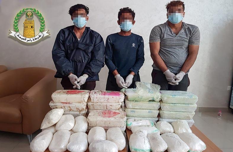 إدارة مكافحة المخدرات بشرطة رأس الخيمة ضبطت 1125 كيلوجراما من المواد المخدرة العام الماضي