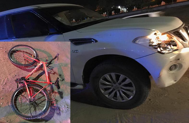 وفاة قائد دراجة هوائية دهسآ برأس الخيمة