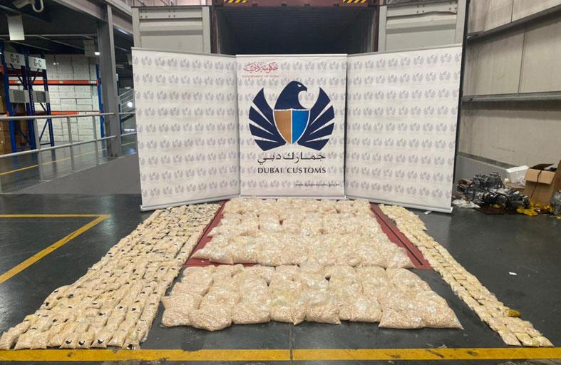 جمارك دبي تحبط محاولة إدخال 3 ملايين حبة كبتاجون