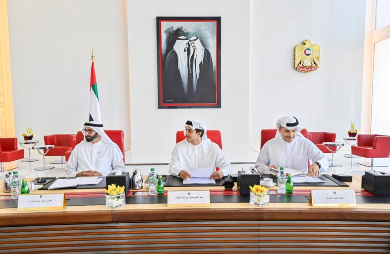 منصور بن زايد يترأس اجتماع اللجنة التنفيذية لـ مبادلة