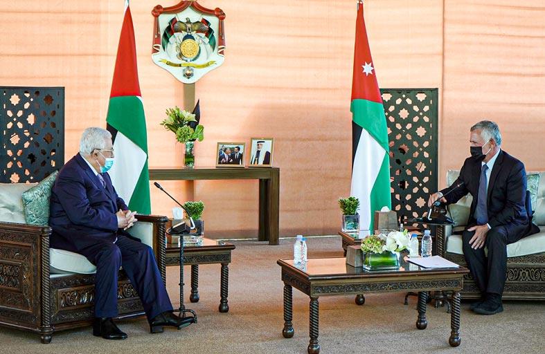 العاهل الأردني وعباس يأملان في إحياء عملية السلام
