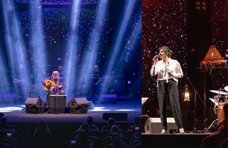 مارسيل خليفة وسعاد ماسي يغنيان للحب والحياة على خشبة مسرح المجاز بالشارقة