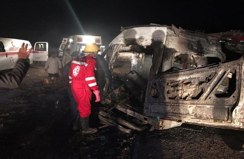 انتشال 14 جثة متفحمة بحادث مروع بالعراق