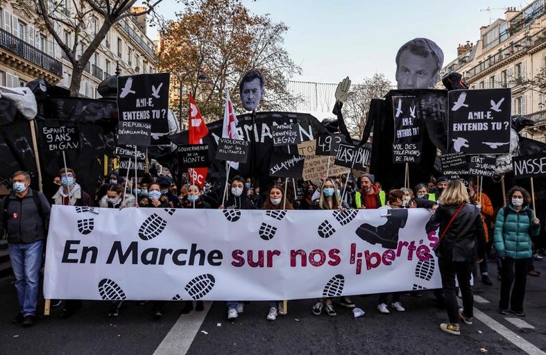 توجيه التهم لعناصر شرطة فرنسيين في قضية ضرب أسود