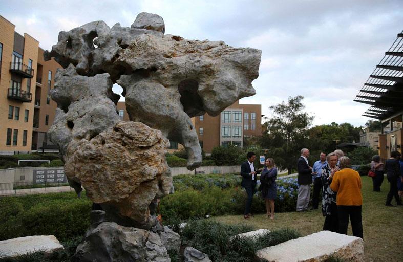 صخرة تايهو الصينية في متحف أمريكي