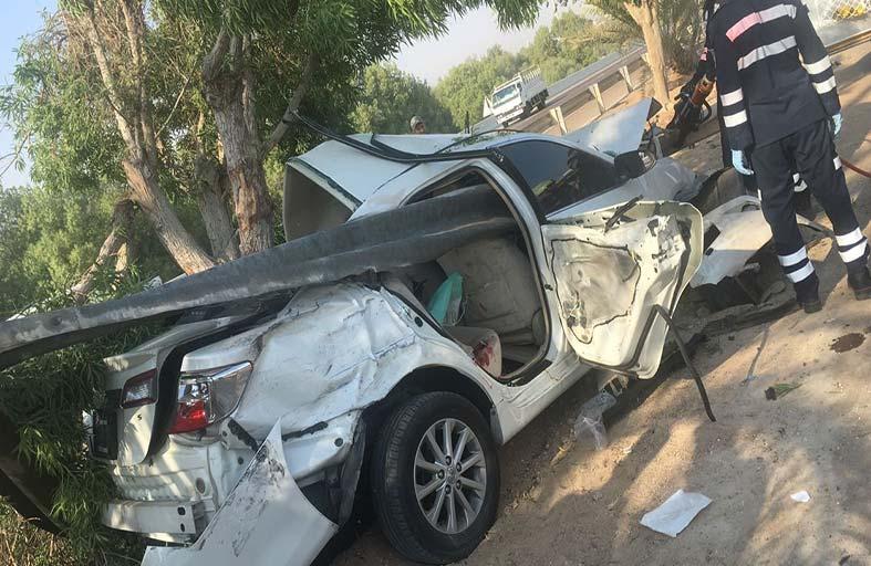 إصابتان في حادث مروري بأبوظبي