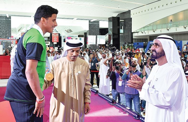 محمد بن راشد يزور الأولمبياد الخاص «أبوظبي 2019»  ويتابع جانبا من منافسات الحدث العالمي