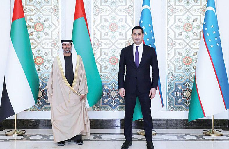 رسالة من رئيس الدولة إلى رئيس أوزبكستان تتعلق بالعلاقات الثنائية