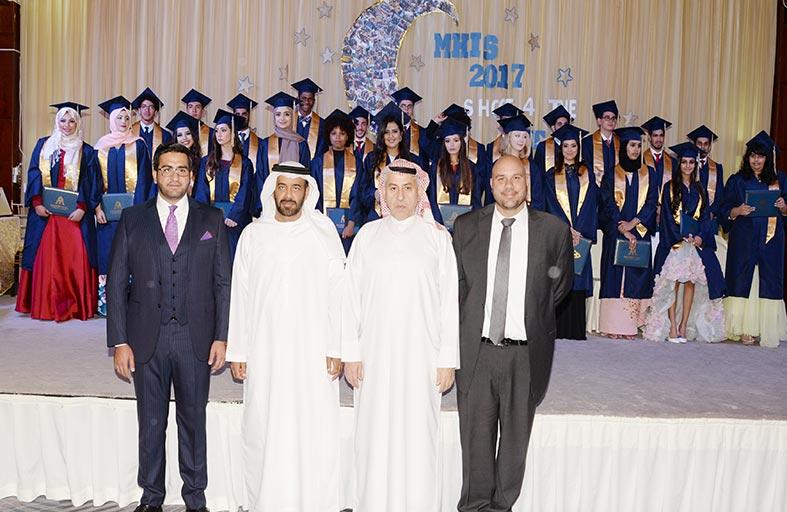 تخريج طلبة الثانوية في قصر المعرفة الدولية برعاية وحضور سالم بن ركاض