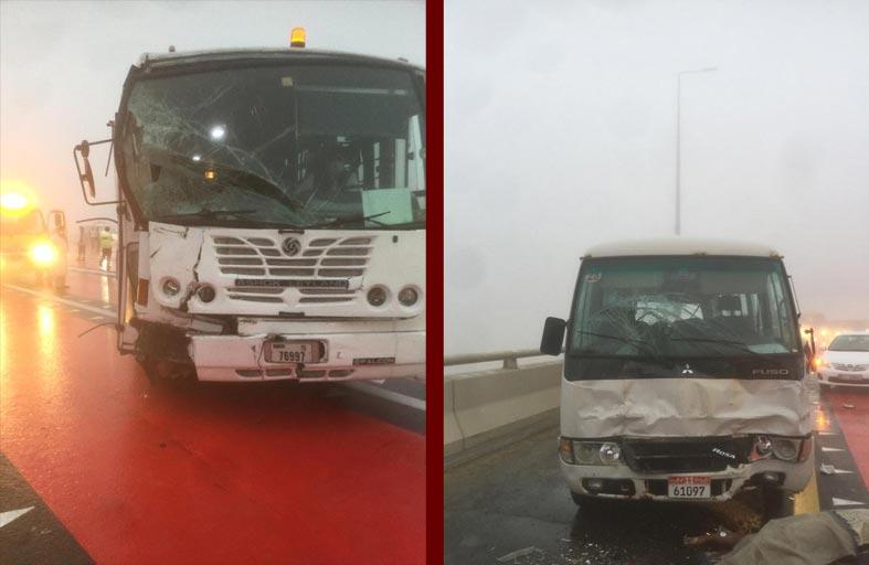 وفاة شخص وإصابة آخرين في حادث تصادم 19 مركبة في أبوظبي