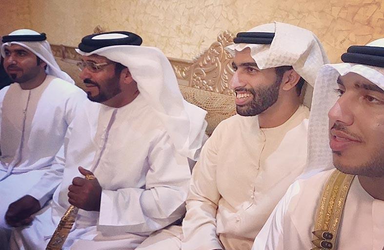 خالد بن سعود يشهد حفل زفاف أحمد حروز الشحي