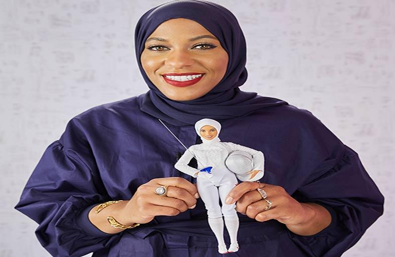 باربي تكرم «ابتهاج محمد» أول أمريكية محجبة تشارك في الألعاب الأولمبية بدمية باربي المشاهير