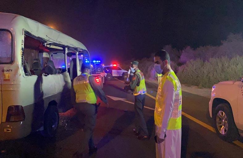وفاة 4 أشخاص وإصابة 11 آخرين في حادث اصطدام على شارع الإمارات