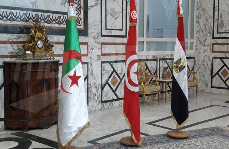 لقاء تونسي جزائري مصري لبحث الأزمة الليبية