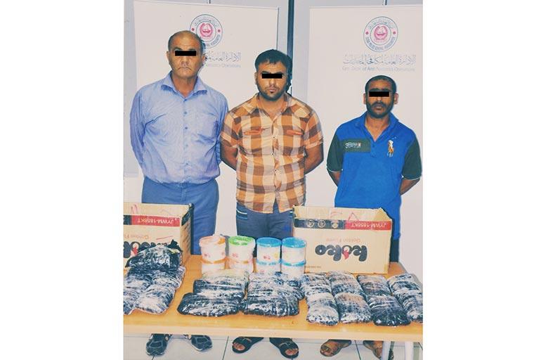شرطة دبي تقبض على3 آسيويين يهربون المخدرات