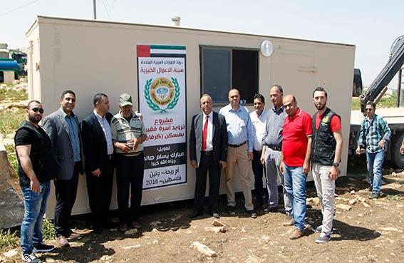 الأعمال الخيرية الإماراتية تبني عددا من المنازل للعائلات الفقيرة في الأراضي الفلسطينية