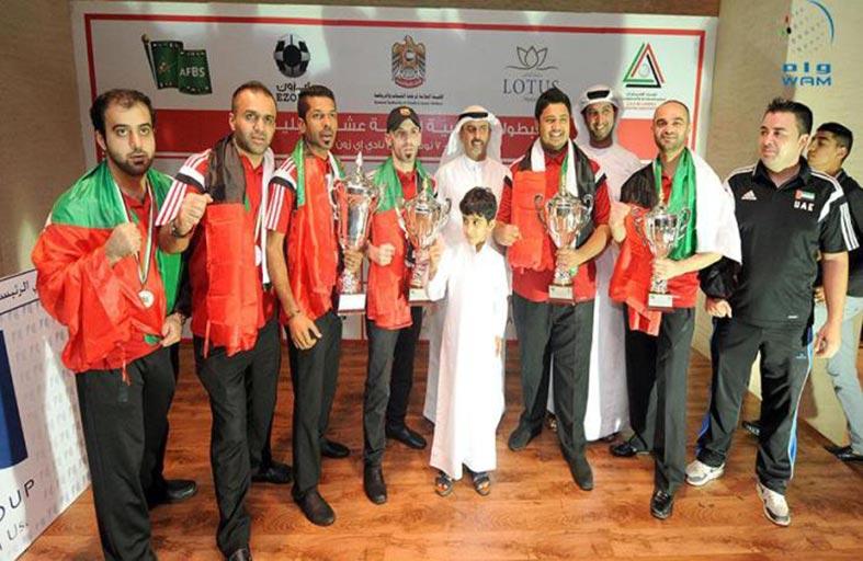 الإمارات تحتفظ ببطولة العرب للبلياردو