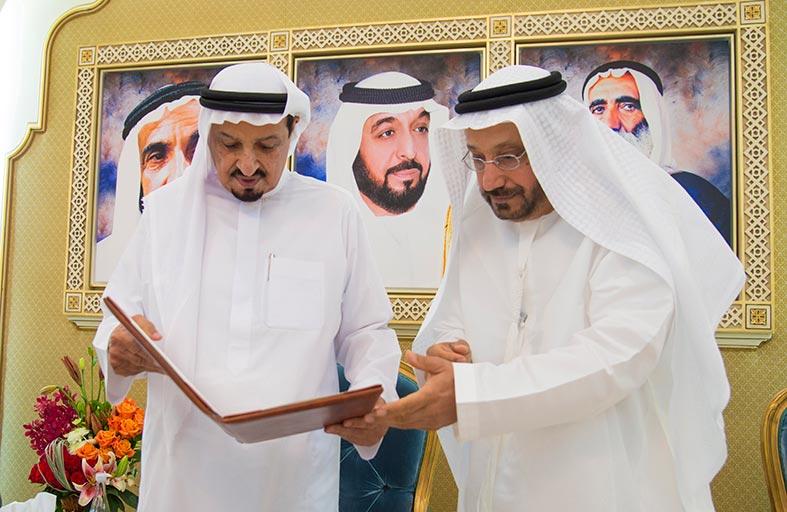 حاكم عجمان يستقبل رئيس المحكمة الاتحادية العليا