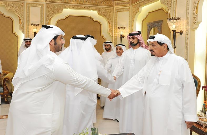 حميد النعيمي يستقبل رئيس دائرة ميناء وجمارك عجمان والمهنئين بشهر رمضان المبارك