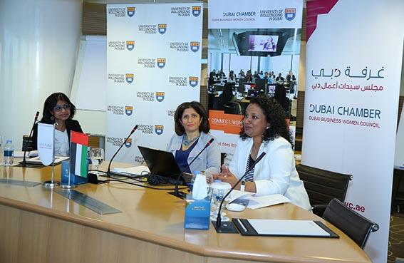 الدكتورة بايازي جاياشري الباحثة الرئيسية خلف الدراسة تقود جلسة الحوار