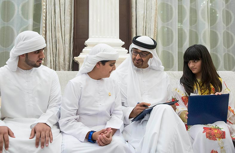 محمد بن زايد: الإمارات ستواصل احتضان المواهب الإماراتية وتوفير الدعم والرعاية لهم