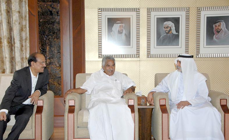 نهيان يستقبل كبير وزراء ولاية كيرالا الهندية