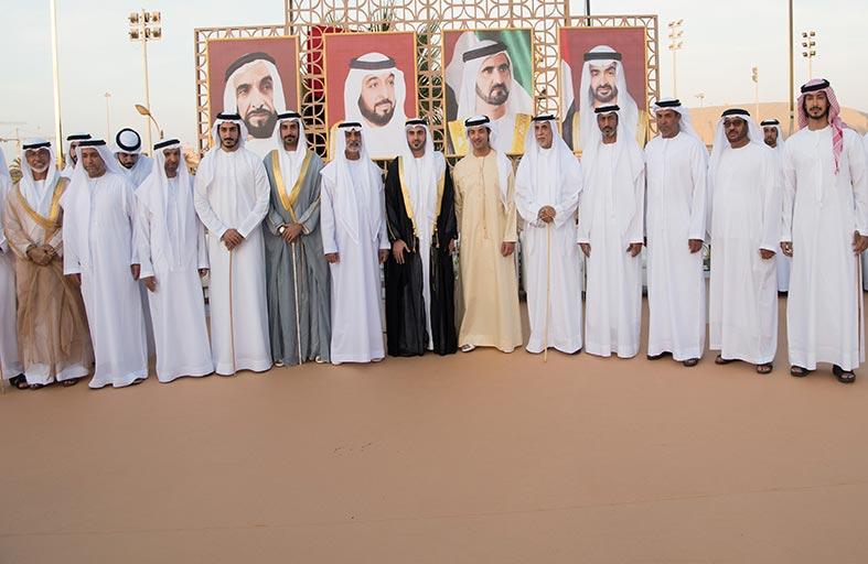 هزاع بن زايد يشهد حفل زفاف خلفان أحمد المرر