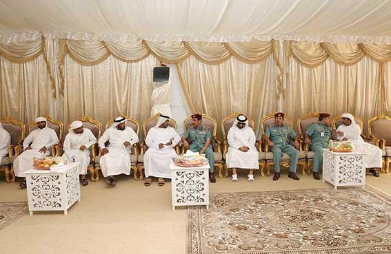 وفد المنطقة الأمنية لإمارة عجمان يؤدي واجب العزاء لأسرة شهيد الواجب فهد علي محمد أحمد البلوشي