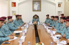 قائد عام شرطة الفجيرة يتفقد إدارة شرطة  دبا ضمن التفتيش السنوي