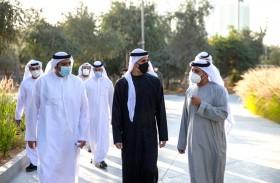 خالد بن محمد بن زايد يفتتح حديقة (الفي) في جزيرة الريم