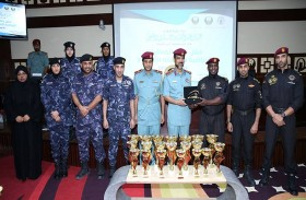 نائب قائد عام شرطة رأس الخيمة يكرم 1258 مشاركا ضمن منافسات الفعاليات الرياضية على مستوى القطاع الأمني في رأس الخيمة 3