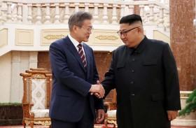 استقبال حار لرئيس كوريا الجنوبية في الشمال