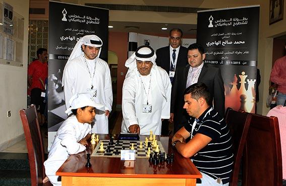 افتتاح بطولة المجلس الدولية للشطرنج الديناميكي في أبو ظبي
