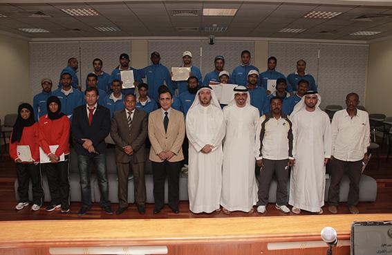 اتحاد الشرطة الرياضي يحتفل بتخريج 30 مدرباً لألعاب القوى
