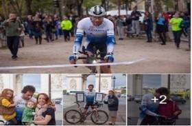 يطوف العالم بدراجته الهوائية في 78 يوماً