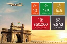 الاتحاد للطيران تحتفل بمرور 15 عامًا على خدماتها في الهند