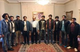 حاكم عجمان يستقبل وفد الطلاب المبتعثين إلى لندن