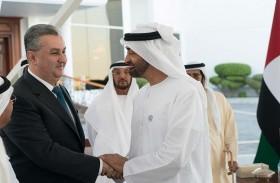 محمد بن زايد يستقبل نائب رئيس مجلس الوزراء رئيس لجنة الاستثمارات في أوزبكستان