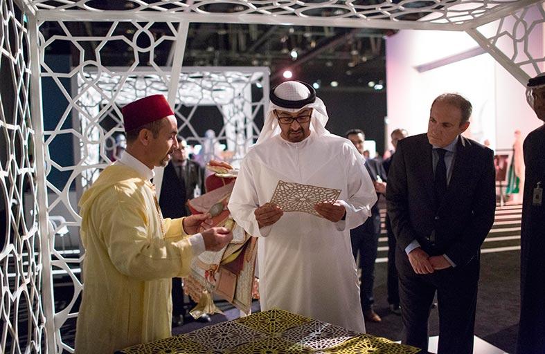 محمد بن زايد يزور معرض «الأسبوع التراثي المغربي» في أبوظبي