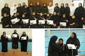 «سجايا فتيات الشارقة» تتوج الفائزات ببطولتها الأولى للسباحة