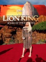 المغنية ميغان ترينور أثناء حضورها العرض العالمي الأول لفيلم «The Lion King» في لوس أنجلوس، كاليفورنيا. «رويترز»