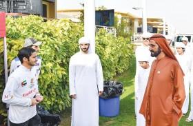 محمد بن راشد يشهد السباق الرئيس لمهرجان ولي عهد دبي للقدرة بحضور حمدان بن محمد