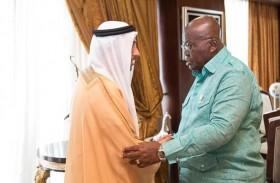 رئيس غانا يستقبل مساعد وزير الخارجية والتعاون الدولي لشؤون المنظمات الدولية