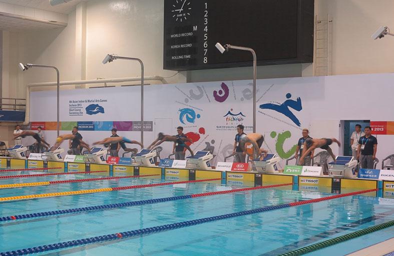 فرحان والبيطار يحطمان الأرقام في مسابقة السباحة (50م) بدورة الألعاب الاسيوية للصالات