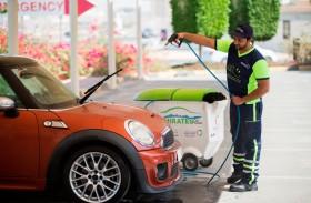 مواصلات الإمارات توفر 60 مليون لتر من المياه خلال عمليات الغسل الجاف للمركبات في 2019