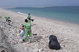 بلدية مدينة أبوظبي تنفذ حملة لتنظيف جزيرة حالة البحراني