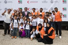مجموعة الاتحاد للطيران تقدم التبرعات للأطفال السوريين في اليونان ضمن مبادراتها لعام زايد